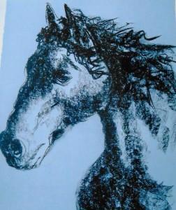 cheval fusain